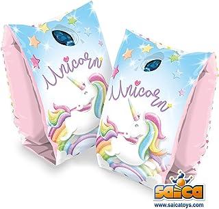 Saica Sica Unicorn 袖子 粉色和蓝色 1321