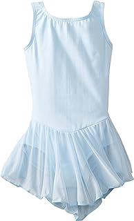 Big Girl 紧身连衣裤裙无袖背心连体式芭蕾舞上衣舞蹈服 浅蓝色 16