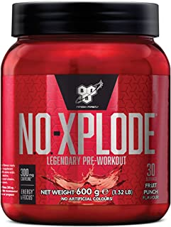 BSN N.O.-Xplode Pre Workout Powder with Creatine Monohydrate, Beta Alanine, Caffeine, Vitamin D & Vitamin B Complex by BSN - Fruit Punch, 30 Servings, 600g
