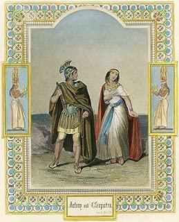 Shakespeare Antony & Cleopatra Marc Antony And Cleopatra From William ShakespeareS Antony And Cleopatra (Act Iv Scene 10) 雕刻 19 世纪海报印刷品 (60.96 x 91.44 cm)