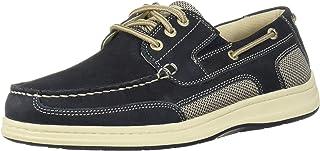 Dockers 男士 Beacon 皮革休闲经典船鞋 NeverWet 棕褐色/灰褐色 *蓝 11 M US