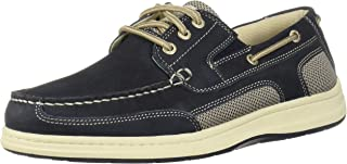 Dockers 男士 Beacon 皮革休闲经典船鞋 NeverWet 棕褐色/灰褐色 *蓝 9.5 M US