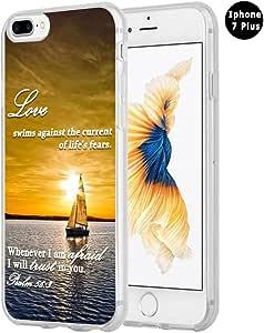 Hungo Iphone 7 Plus 手机壳圣经版本,苹果 Iphone 7 Plus 封面基督教语录 关爱励励励志的说法 Style41