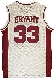 JerseyFame 男式篮球号码 33 Bryant 篮球运动衫白色