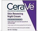 CeraVe 晚霜 | 1.7盎司(48克)| 含透明质酸和烟酰胺的焕新晚霜| 无香
