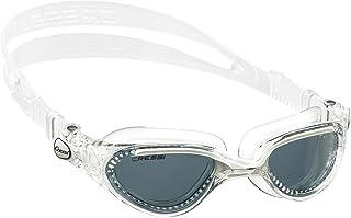 Cressi 科越思 女式 FLASH CLEAR/RED游泳眼镜源自意大利 DE2023