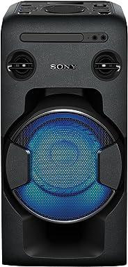 Sony 索尼One Box 音響系統 表現出色(470兆瓦的輸出功率,超低音,FM收音,CD,USB,藍牙,NFC功能)黑色