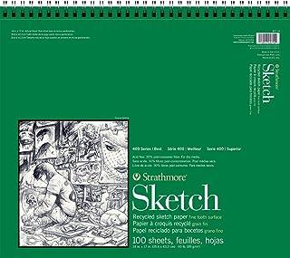Strathmore 400 系列再生素描板,35.56 厘米 x 43.18 厘米线束,100 张
