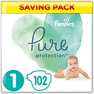 Pampers 帮宝适 Pure Protection 覆盖 多种颜色 Monatsbox Gr. 1 102