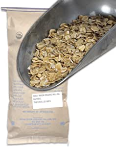 Great River Organic Milling, Oatmeal, Thick Rolled Oats, Organic, 50-Pounds (Pack of 1)