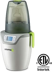 Gourmia Jr. 单人婴儿奶瓶*器和加热器,数字显示,可放入洗碗机清洗,可拆卸零件,JBW150,ETL 认证