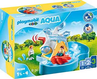 Playmobil 摩比世界-1.2.3 Aqua 70268 玩具滑梯水轮,适于1.5-4岁儿童