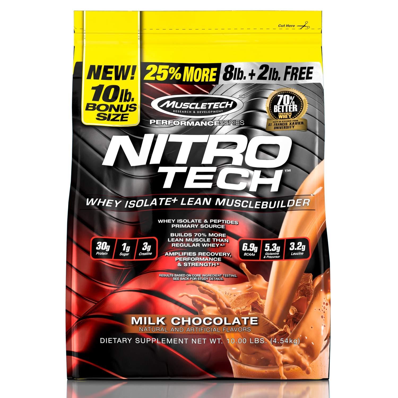 加量装约137份、亚马逊同品第二:10磅 肌肉科技 金装正氮乳清蛋白粉