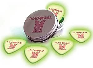 Printed Picks Company Madonna 5 X Glow In The Dark Premium Guitar Picks and Tin