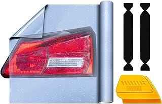 VViViD 天蓝色水晶色磨砂汽车尾灯空气释放粘性乙烯基膜 40.64cm 乘 10.16cm 一卷包括黄色细节刮刀和 2 个黑色毡贴花