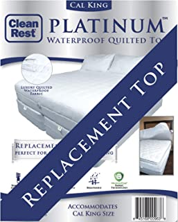 CleanRest Platinum 加州大号双人床替换顶,加州,白色