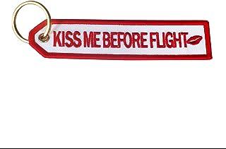 Aviation Kiss Me Before Flight 白色钥匙扣
