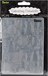 Darice 压花文件夹,10.80 x 13.97 cm,裙子形状 S 码