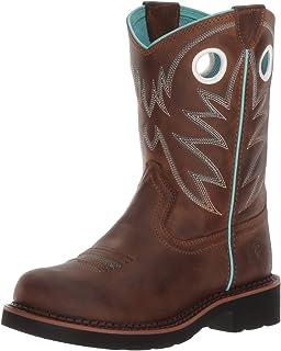 儿童 Probaby 西部靴,做旧棕色