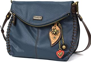 Chala 迷人的斜挎包 - 带盖上衣和金属钥匙饰品*蓝、斜挎包或单肩钱包 Metal Spider 单一尺寸