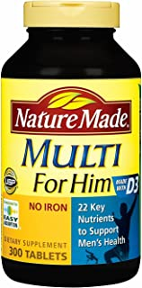 Nature Made Multi for Him - 300 Tablets 萊萃美 男士專用營養素 300 tablets Made in USA (男性300粒)