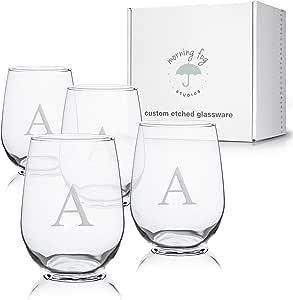 交织无*杯4件套,*杯,带砂岩字母插画,481.28 克每杯容量 A