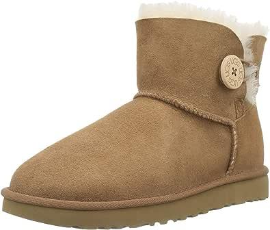 UGG AUSTRALIA 女式迷你 BAILEY 扣短靴 Chestnut 3.5 UK