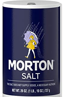 Morton Lite 盐 普通 26 Ounce (Pack of 24)