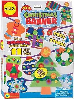 Avix玩具圣诞节横幅假日手工套件