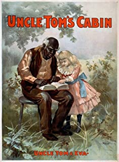 Uncle TomS Cabin C1899 印制海报 C1899 由 Harriet Beecher Stowe 出品的 Uncle TomS Cabin 生产 以Uncle Tom And Eva 人物为特色海报印刷品 (45.72 x 60.96cm)