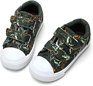 STQ 幼儿男孩和女孩一脚蹬帆布运动鞋