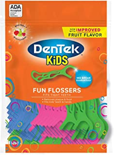 DenTek Kids Fun 牙线棒 75 ea 4片装