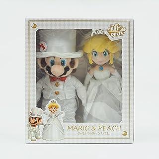 *马里奥兄弟 布偶玩具 马里奥&桃子(婚礼风格)高42cm