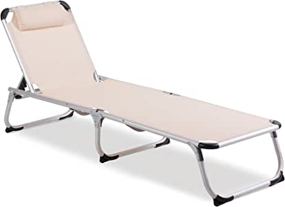 vanage 阳光躺椅 Helena 米色 188 x 58,5 x 33