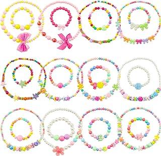 SOTOGO 24 件串珠项链和串珠手链小女孩珠宝公主礼服配饰女孩首饰套装