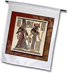"3dRose fl_99429_2"" 古铜质埃及帕蒂斯花园旗帜,45.72 x 68.58"