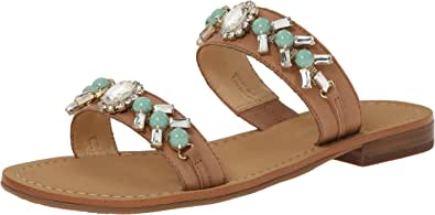 Ivanka Trump Women's Pinta Sandal Tan/Green 8.5 B(M) US