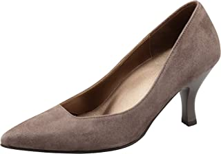 Saccess Walk 淺口鞋 尖頭 鞋跟 7cm D~EE 羊皮 WIN121 女式