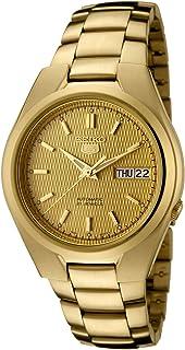 Seiko 男士 5 英尺日本自动金色-不锈钢休闲手表,颜色:金色(型号:SNK610)