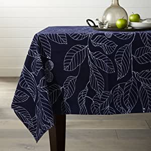 lamberia 100% 棉质画布,自然树叶印花面料桌布长方形 / 矩形
