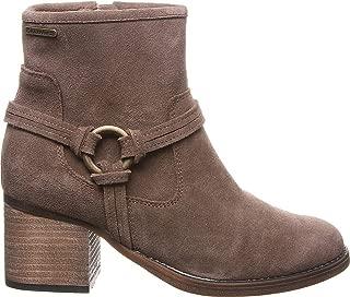 Bearpaw Mica 女士高跟拉链绒面革靴印章棕色 - 10 中号