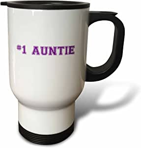 InspirationzStore 排版 - #1 Auntie - Number One Aunt - 紫色文字 - Best Honorary Aunt - Family and Relatives Gift - 旅行马克杯 多种颜色 14 oz tm_151591_1