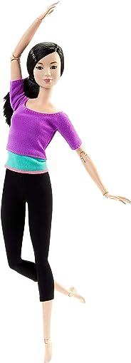 Barbie 可動芭比娃娃,紫色上衣