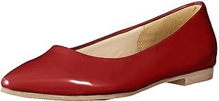 [Meenue] 女式尖头 尖头 漆皮 平底 浅口鞋 靓女 尖头浅口鞋