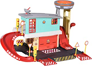 Dickie Toys 203097003 203097003 消防员 Sam Fire Sation 消防游戏套装 2层带压铸汽车 + 其他配件,多色