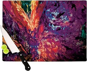 "Kess InHouse Mary Bateman Passion Flowers II 切割板 11.5""x 8.25"" MB1003BCB01"