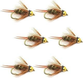 飞蝇钓放置珠头尼奥匹克王子飞蝇钓鱼苍蝇 - 6 只装飞蝇钩 尺寸 12