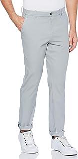 Perry Ellis 男式修身弹力抗皱柔软斜纹棉布裤