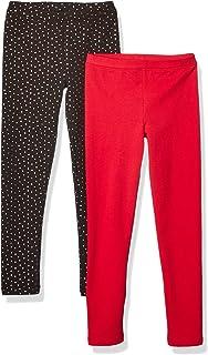 Amazon Brand - 斑马女童幼儿和儿童 2 件装舒适打底裤