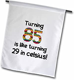 "InspirationzStore Occasions - Turning 85 就像 turning 29 in celsius - 幽默的 85 岁生日礼物 - 旗帜 18 x 27"" fl_184968_2"